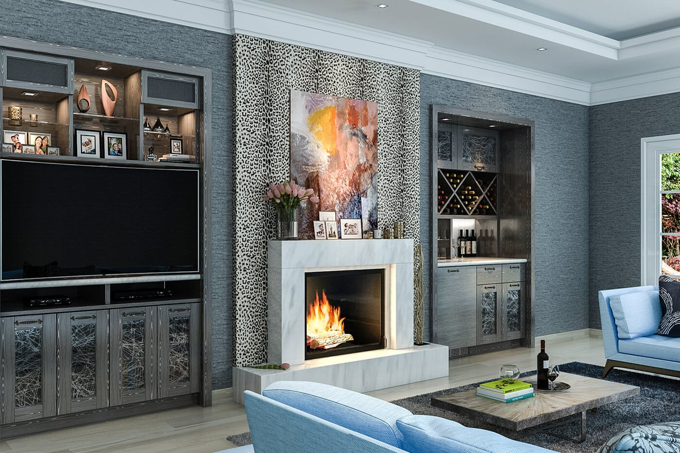 Eclectic Living Room Niches ...