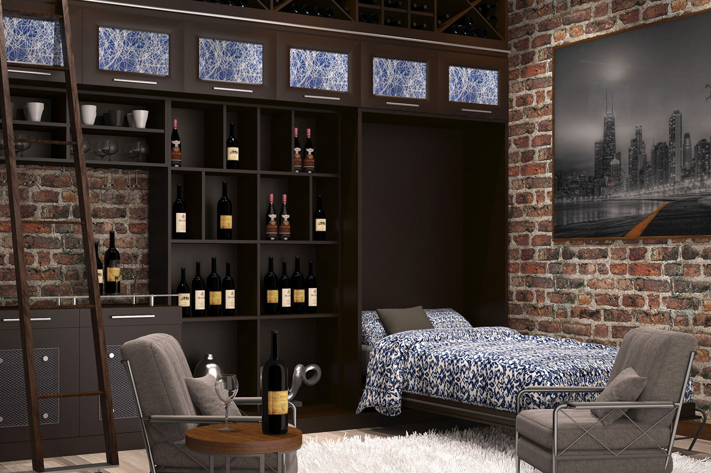 Urban Wall Bed And Wine Bar ...
