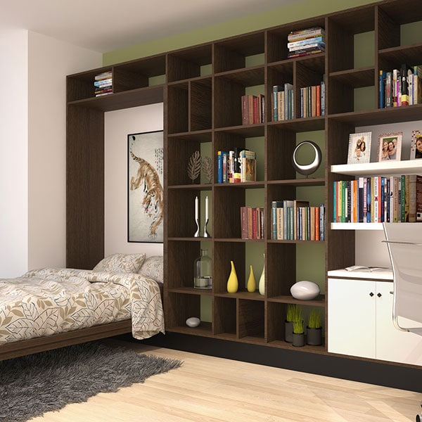 contemporary wall bed system
